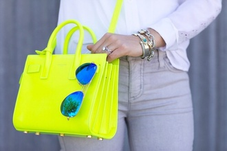 bag neon yellow across body bag neon yellow