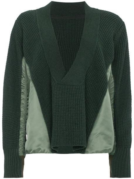 Sacai sweater wool sweater women wool green
