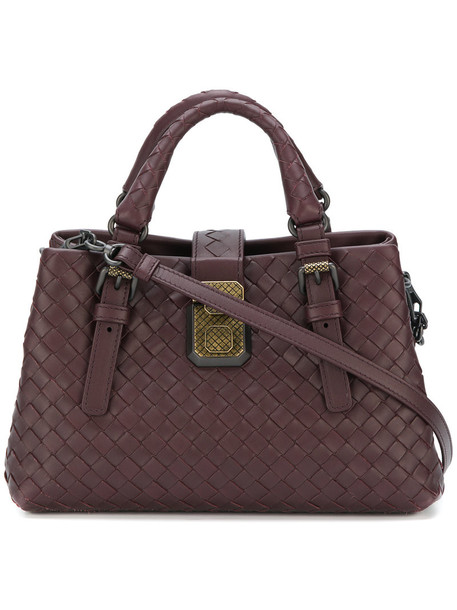 Bottega Veneta - small intrecciato Roma bag - women - Leather - One Size, Pink/Purple, Leather