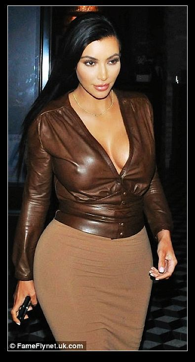 6293cc6afc2 Aliexpress.com   Buy kim kardashian brown leather blouse kim kardashian top  brown shirt plus size women ...