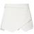 White Asymmetrical Geometric Pockets Shorts - Sheinside.com