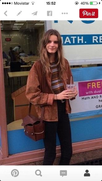 jacket fashion brown cool hunter leather jacket suede jacket