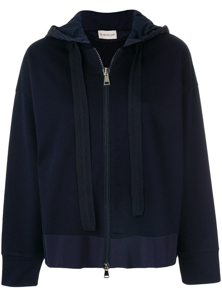 moncler sweatshirt women cotton blue sweater