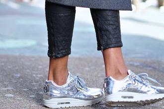 shoes nike air max air max silver foot sparkling nike air max 90
