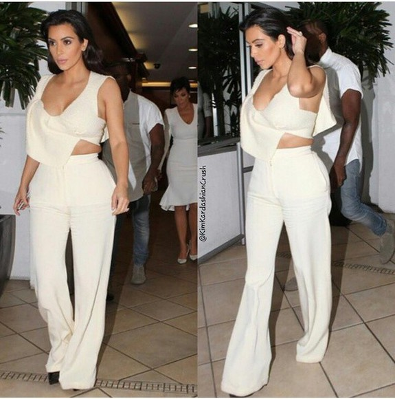 top blouse crop tops wool blouse, kim kardashian