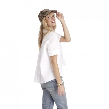 wool blend print baseball cap