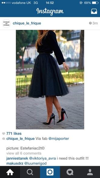 skirt black skirt midi skirt mesh shirt