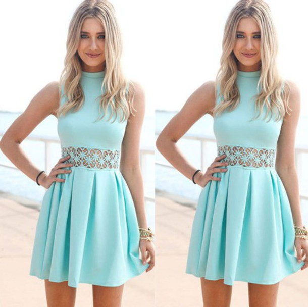 Mint Blue Dresses Tumblr