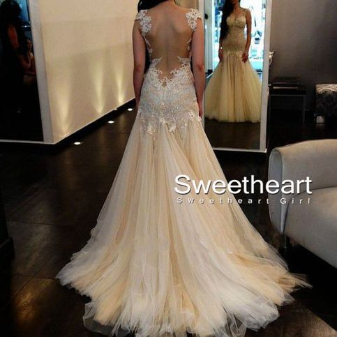 Sweetheart Girl | Amazing A-line Tulle Lace Long Prom Dresses, Lace Wedding Dresses., Dresses For Prom | Online Store Powered by Storenvy