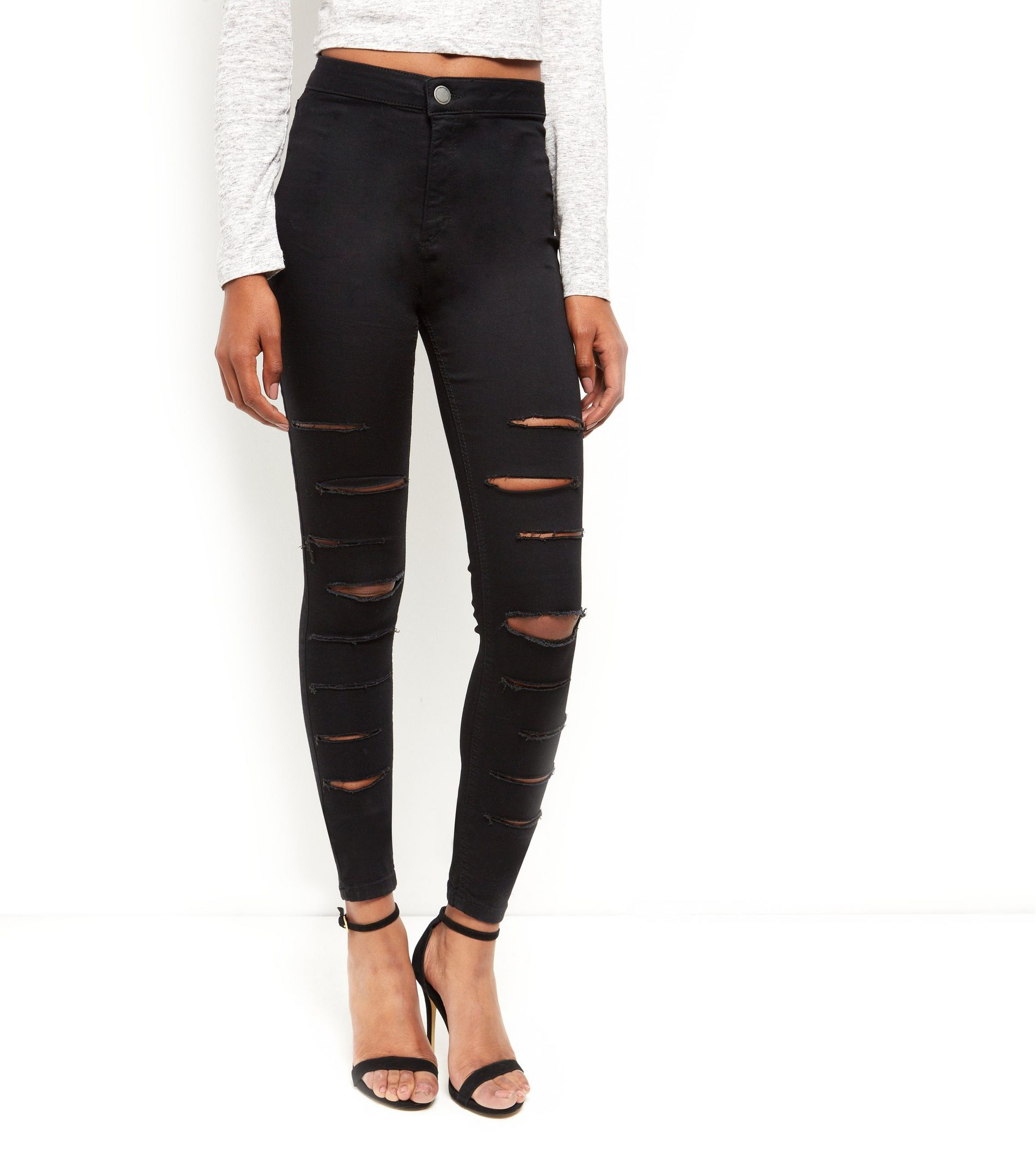 Extreme Ripped High Waisted Super Skinny Jeans