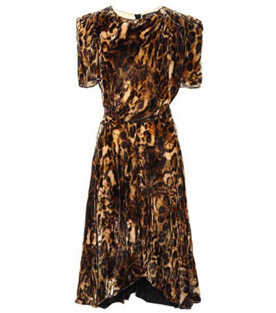 Isabel Marant dress velvet dress velvet brown