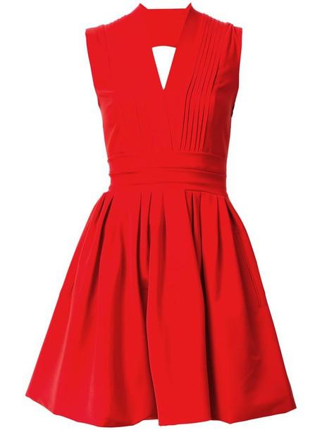 PREEN BY THORNTON BREGAZZI dress cherry women spandex red