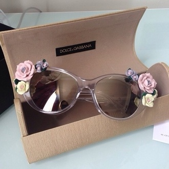 sunglasses dolce and gabbana cute floral hippie glasses pink sunglasses flower sunglasses designer sunglasses pink girly floral purple