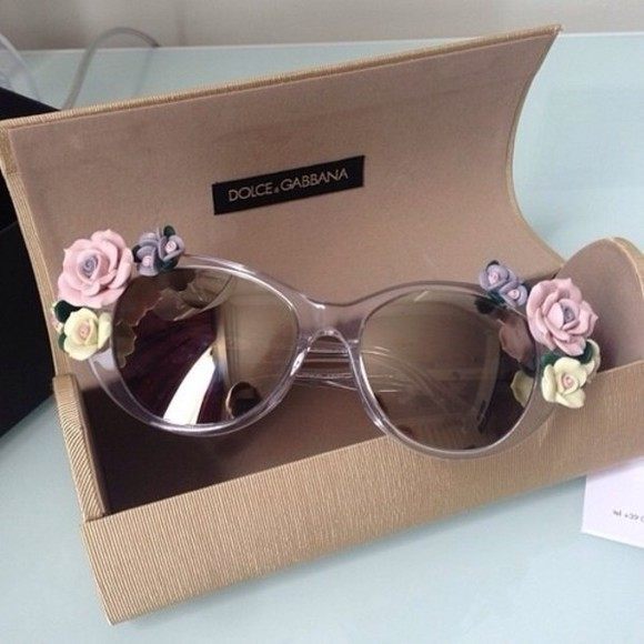 sunglasses pink sunglasses cute dolce and gabbana hippie glasses flower sunglasses flowers designer sunglasses