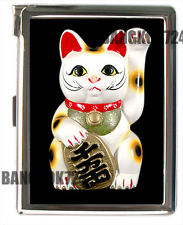 Manekineko lucky cat cigarette case lighter