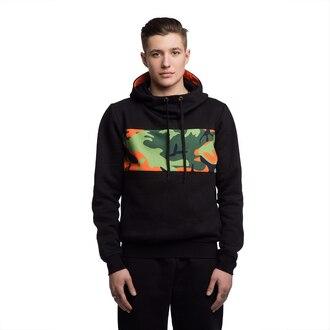 sweater hoodie hooded sweater black hoodie black mens hoodie menswear camouflage camo print camouflage print camo hoodie camouflage hoodie