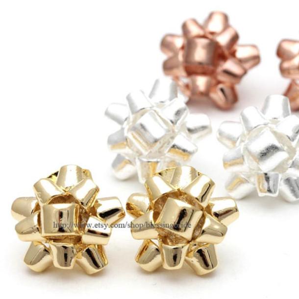 jewels jewelry cute earrings bow studs bow earrings ribbon studs ribbon earrings girls earrings earrings studs