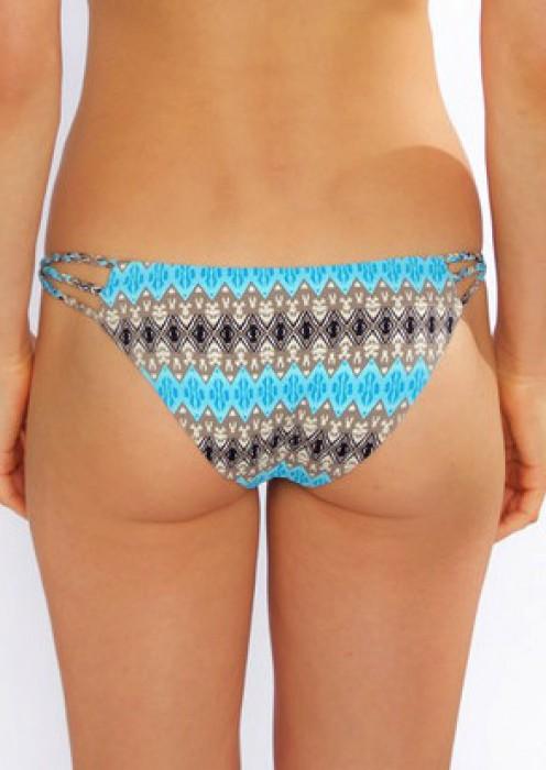 Kaia bottom blue ikat