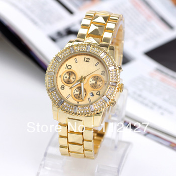 Aliexpress.com : Buy Luxury Imtation Wristwatches Women Diamond Quartz Wactch Clock Hours2014 New Gold Plated face women rhinestone watches JF043 from Reliable luxury digital watch suppliers on HT INTERNATIONAL INDUSTRIAL CO.,LTMITED(MIQ:1pcs)