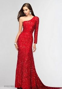 Scala BG Haute F01022 Red Sequined Gown Dress Sz 6 8 10 12 New | eBay