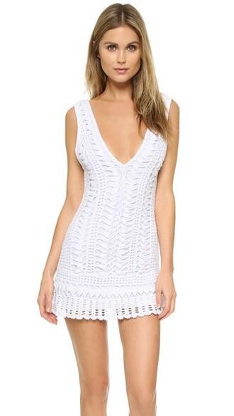 cover up white swimwear