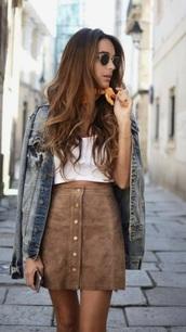 skirt,button up,faux fur,brown