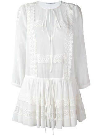 dress women white cotton silk