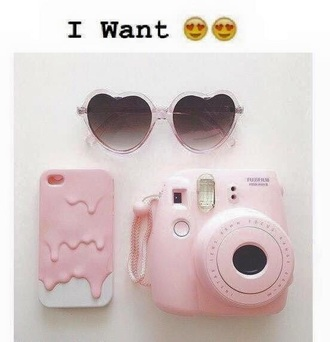 home accessory camera pastel phone case sunglasses