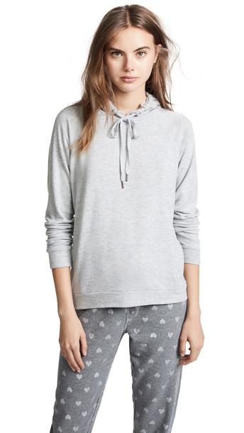 hoodie heart basic grey heather grey sweater