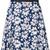 Guild Prime daisy print skirt, Women's, Size: 34, Blue, Polyester