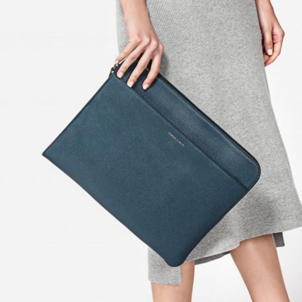 bag computer case torqoise blue handbag laptop bag laptop blue bag handbag charles and keith leather bag