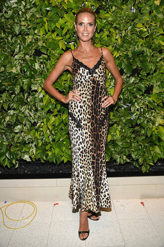 dress heidi klum leopard print maxi dress zac posen
