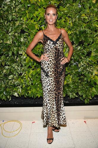 leopard print dress maxi dress heidi klum zac posen