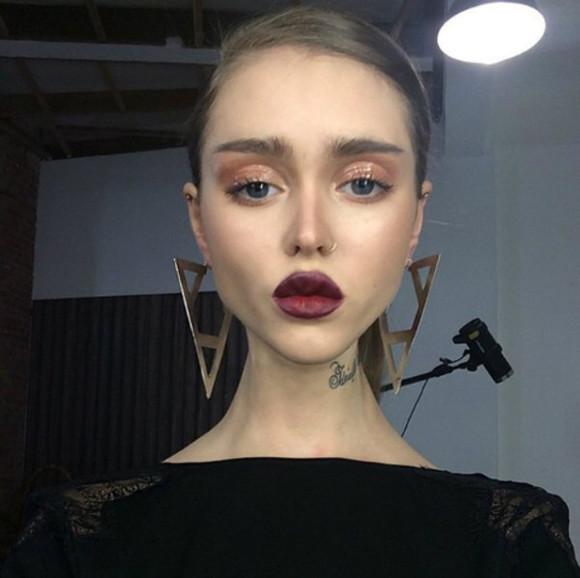 triangle jewels earrings
