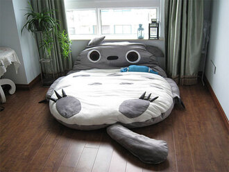 totoro bedding sleeping animal grey bag ebay shirt lit cute white cats socks home accessory bedroom lovely sleep must haves bean bag tumblr bedroom pinterest weheartit instagram home decor cool panda mattress
