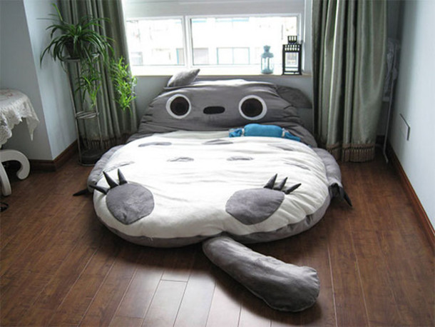 Totoro Bedding Sleeping Animal Grey Bag Bedding Ebay Shirt Lit Bedroom Cute  White Cats Socks Home