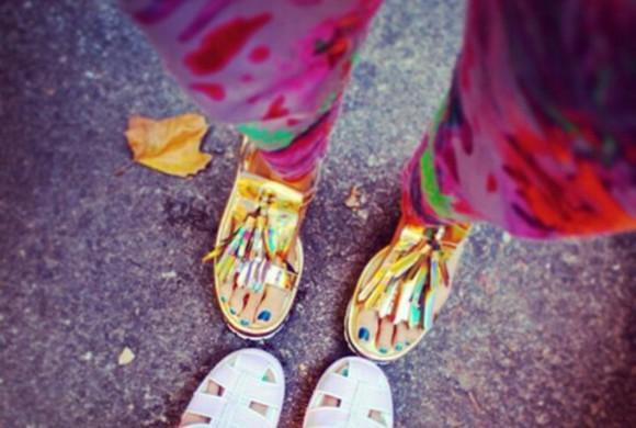 sandals golden