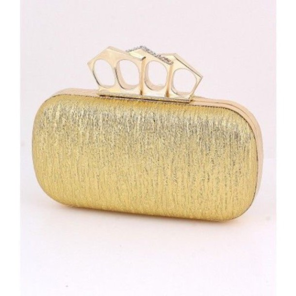 bag gold knuckle clutch