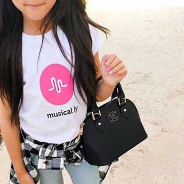 Amazon.com: 'musical.ly' T-Shirt (White - Fitted Cut ...