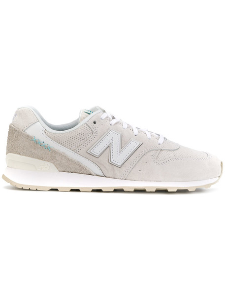 New Balance women sneakers nude cotton suede shoes
