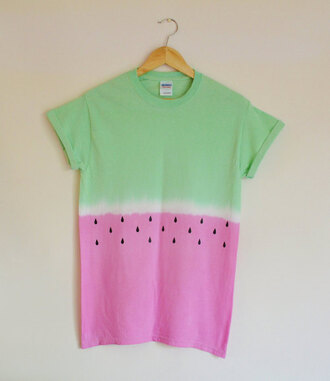 blouse watermelon print t-shirt