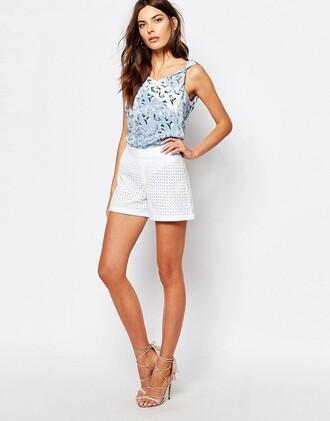 shorts lace shorts mesh shorts white shorts