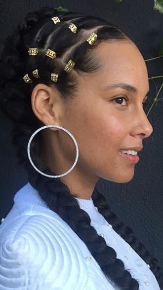 jewels diamonds front facing hoop earrings alicia keys earrings hoop earrings celebrity style jewelry accessories