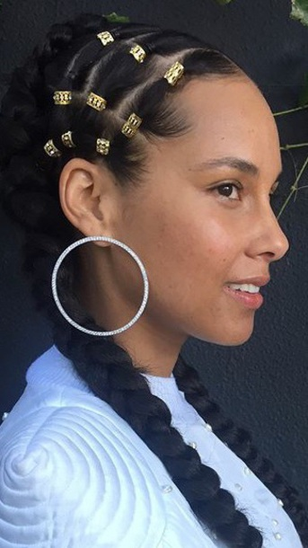 Jewels Diamonds Front Facing Hoop Earrings Alicia Keys