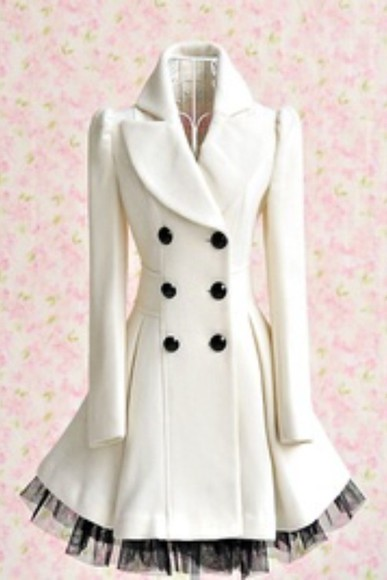 long sleeve double breasted button front coat