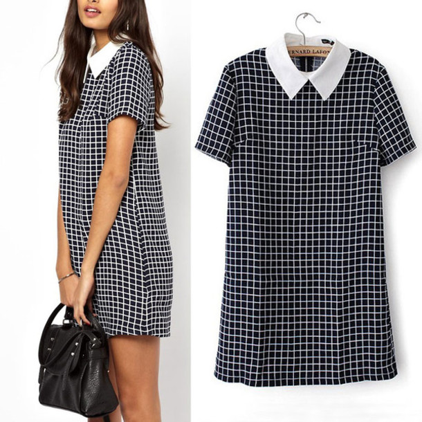 plaid dress mini dress checkered elegant dress fall outfits office dress office outfits shift dress dress