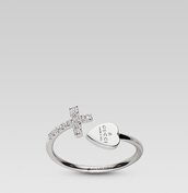 jewels,cross ring,ring,gucci,heart jewelry,silver ring