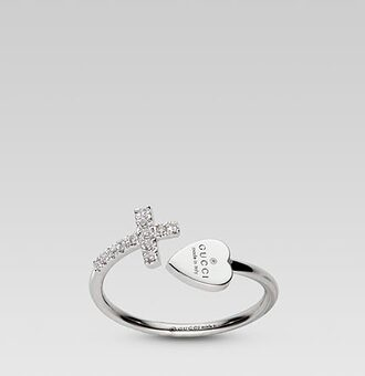 jewels cross ring ring gucci heart ring silver ring