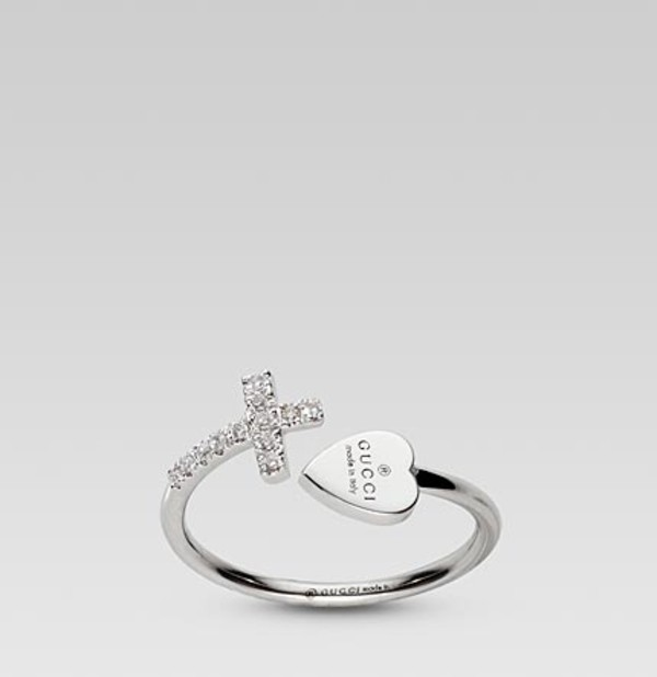 jewels cross ring ring gucci heart jewelry silver ring
