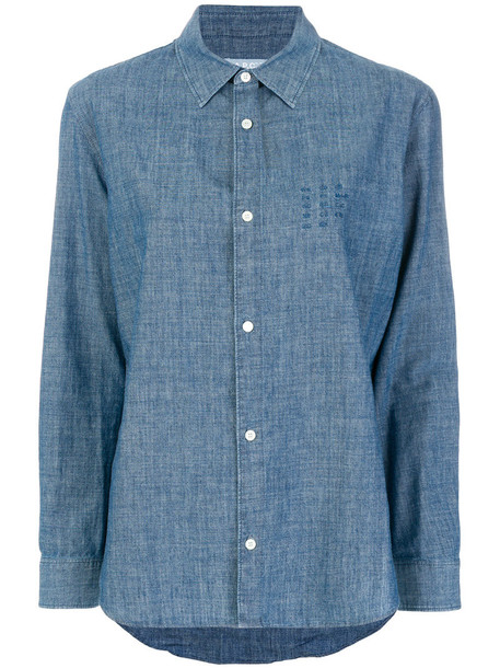 A.P.C. shirt denim shirt denim women classic cotton blue top